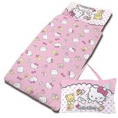 《Give Me Buy》卡通精梳棉兩用兒童睡袋5x5尺(HELLO KITTY 我的最愛(粉))