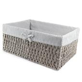 《halla malmo》北歐生活灰色布內襯紙繩收納箱(大H33)