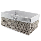《halla malmo》北歐生活灰色布內襯紙繩收納箱(中H28)