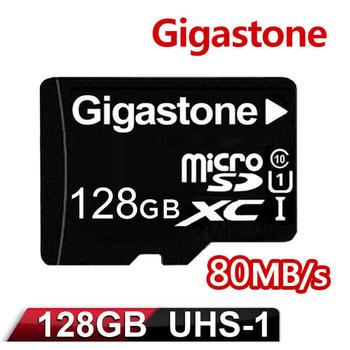《Gigastone》Gigastone 立達國際 128GB MicroSDXC UHS-I 高速記憶卡(附轉卡)