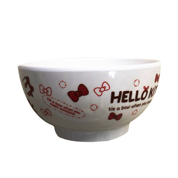《蝴蝶結KITTY》大餐碗(NO891)