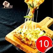 《披薩市》任選 義式手工低卡米披薩(90g/片*10片~請在訂單備註口味)