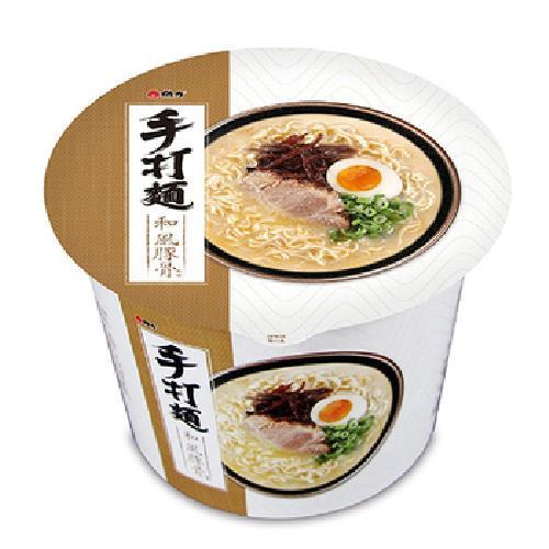 《手打麵》和風豚骨風味桶麵(100g/桶)