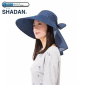 《日本NEEDS》後簾帽NEEUVCU15-BL深牛仔藍(UV99%帽-帽緣15公分)(深牛仔藍)