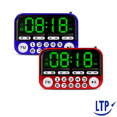 《LTP》超大螢幕小音箱支援時鐘/鬧鐘/FM/MP3/USB可插卡(SK01 藍色)