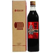《北港億昌油廠》頂級【北港純黑麻油】563ml(玻璃瓶禮盒裝)(*6瓶(盒))