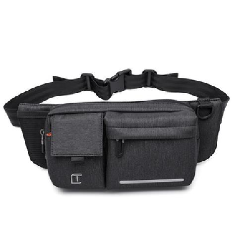 《TANGCOOL》多功能休閒腰包斜肩/跨胸包(906-黑色)