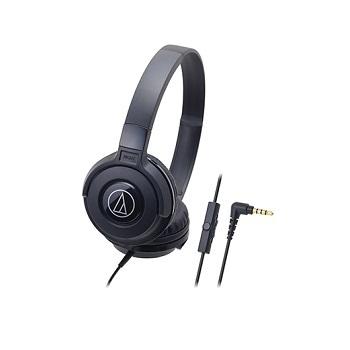 Audio-Technica 日本鐵三角Audio-Technica耳罩式耳機麥克風ATH-S100is(黑色)