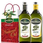 《奧利塔Olitalia》禮盒裝(初榨橄欖油1L+純橄欖油1L)