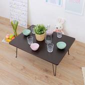 《頂堅》寬80x深60x高31/公分-折疊桌/和室桌/折合桌/矮腳桌/野餐桌(二色可選)(深胡桃木色)
