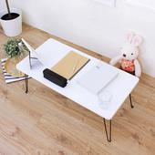 《頂堅》寬80x深40x高31/公分-折疊桌/野餐桌/摺疊桌/和室桌/休閒桌/矮桌(二色可選)(素雅白色)