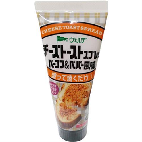 《QP》黑胡椒培根起司風味抹醬(80g/條)