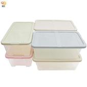 《月陽》月陽多用途半透明鞋盒收納盒整理盒超值6入(PP86)(米色)