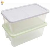 《月陽》多用途半透明鞋盒收納盒整理盒超值2入(PP8)(米色)