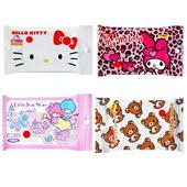 《日本SANTAN》抗菌濕紙巾(kikilala.懶懶熊.Hello Kittty.美樂蒂)隨機出貨(15抽x8包)