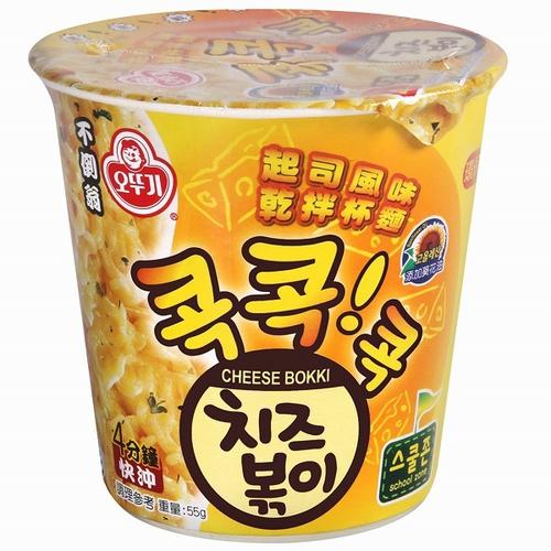《韓國不倒翁》起司風味乾拌杯麵(55g/杯)