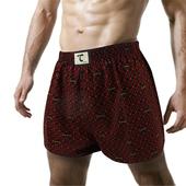 《天皇》舒適悠閒-有稜有角平口褲-紅色(M)