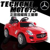 《TECHONE》MOTO15 仿真賓士跑車 正版BENZ/原廠授權 四通遙控童車/汽車 可外接MP3 兒童電動車(MP3音響介面 大LED燈設計(紅)