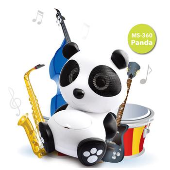 《alfastar》alfastar熊貓造型藍牙喇叭 多媒體藍芽音箱