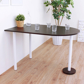 《頂堅》深80x寬120x高75/公分(PVC防潮材質)蛋頭形餐桌/洽談桌/吧台桌(二色可選)(深胡桃木色)