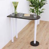 《頂堅》深40x寬80x高75/公分(PVC防潮材質)蛋頭形餐桌/洽談桌/吧台桌(二色可選)(深胡桃木色)