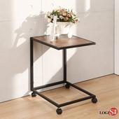 LOGIS  LOFT工業風隨行邊桌 美式 活動桌 滑輪桌 便利桌 TG01(木紋色)