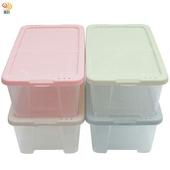 《月陽》多用途半透明鞋盒收納盒整理盒超值4入(PP84)(米色)