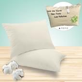 《純棉宣言》100%無染舒眠枕 附帆布袋(42X73cm)