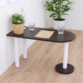 《頂堅》深40x寬80x高45/公分(PVC防潮材質)蛋頭形和室桌/矮腳桌/餐桌(二色可選)(深胡桃木色)