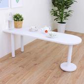 《頂堅》深40x寬120x高45/公分(PVC防潮材質)蛋頭形和室桌/矮腳桌/餐桌(二色可選)(素雅白色)