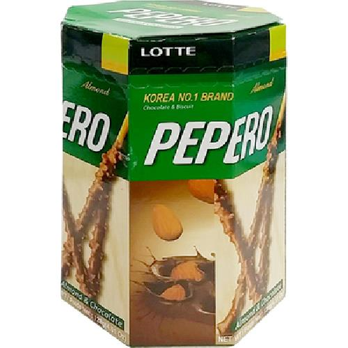 《LOTTE》Pepero杏仁巧克力棒分享盒(128g)