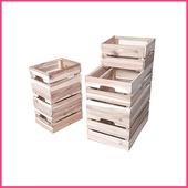 《2H 傢俱屋》原木組合式堆疊木箱(2大木箱)