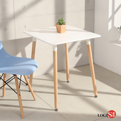 LOGIS邏爵- 自然簡約北歐寬60cm方形桌/ 方桌/ 工作桌/ 書桌/ 休閒桌 T6060W 白 T6060B黑(黑)