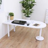 《頂堅》深60x寬120x高45/公分(PVC防潮材質)蛋頭形和室桌/矮腳桌/餐桌(二色可選)(素雅白色)