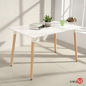 LOGIS邏爵- 自然簡約北歐寬80cm餐桌/ 長桌/ 工作桌/ 書桌/ 休閒桌 T12080W白(白)
