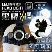 《米里》LD-009H T6 黑耀光 頭燈 1入