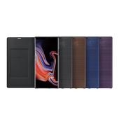 《Samsung》Galaxy Note 9 原廠LED皮革翻頁式皮套(棕色)