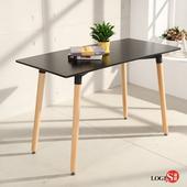 LOGIS邏爵- 自然簡約北歐寬60cm餐桌/ 長桌/ 工作桌/ 書桌/ 休閒桌T12060B黑(黑)