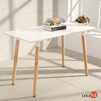 LOGIS邏爵- 自然簡約北歐寬60cm餐桌/ 長桌/ 工作桌/ 書桌/ 休閒桌 T12060W白(白)