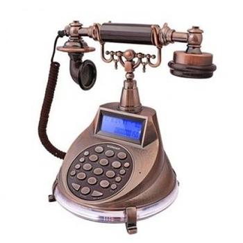 《WONDER旺德》來電顯示電話機(仿古懷舊風)WT-04