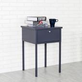 《Homelike》諾伊鋼製床邊桌(沉穩灰)