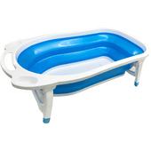 AJ小河馬折疊式浴盆P 藍