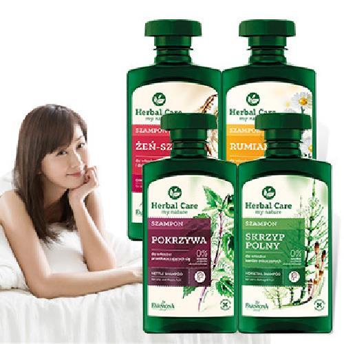 《波蘭Herbal care》植萃洗髮露330ml/瓶(馬尾草滋養)