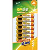 《GP超霸》特強鹼性電池3/4號12+2入4號/14入 $135