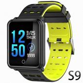 《U-ta》彩色屏方款運動防水心率手環S9(公司貨)(黑色)