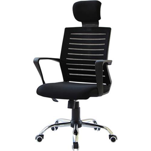雅仕高背職員椅 黑色(60x65x113-122cm/P-L-CH1138)