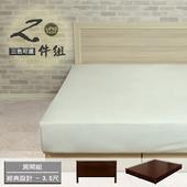 《床組【久澤木柞】》經典設計3.5尺單人二件組(胡桃)
