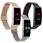 HO19 彩色螢幕運動心率智慧手環(黑色)