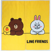 《Give Me Buy》LINE FRIENDS 短門簾(黃)