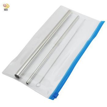 《月陽》3件式加厚食品級304不鏽鋼大小吸管組(BS304)